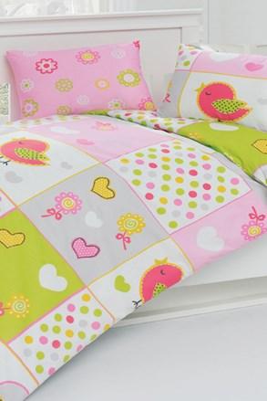 Lenjerie de pat pentru copii Pasari