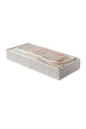 Cutie Madison din material textil pentru depozitarea paturilor