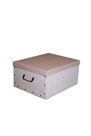 Cutie de depozitare pliabila Nordic, roz