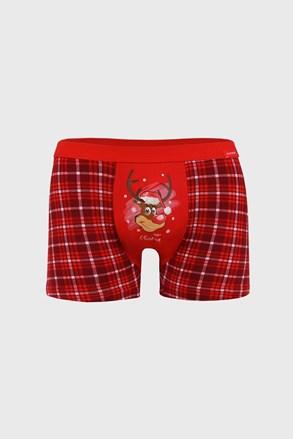 Boxeri Reindeer Craciun, rosu