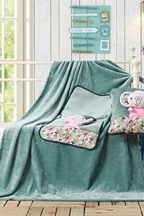 Pernă şi pătură pentru copii 2 in 1 Elefant