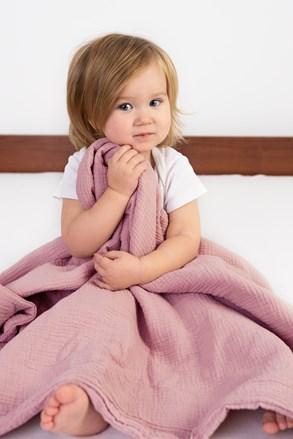 Patura copii Muslin, roz