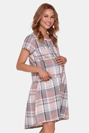 Cămașă de maternitate în carouri