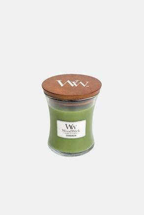 Lumânare medie WoodWick Evergreen