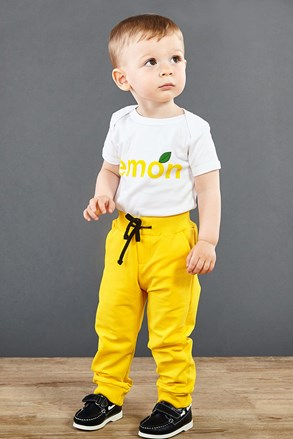 Pantalon de trening copii, galben