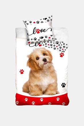 Lenjerie de pat pentru copii Love dogs