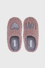 Papuci de casa Love, pentru fetite