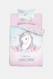 Lenjerie de pat fetite Unicorn, straluceste in intuneric