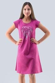 Camasa de noapte Hearts, pentru fetite, roz