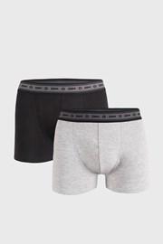 2 PACK boxeri DIM Ecosmart, gri-negru