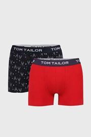 2 PACK boxeri Tom Tailor, albastru-rosu