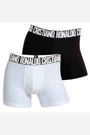 2pack boxeri barbatesti CR7 CRISTIANO RONALDO Black White