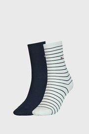2 PACK sosete Tommy Hilfiger Stripes, albastru-alb