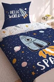 Lenjerie de pat Space pentru baieti, straluceste in intuneric