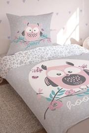 Lenjerie de pat pentru fetite Owl, straluceste in intuneric