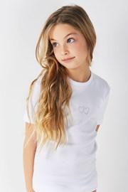 Tricou fetite Lea, din bumbac