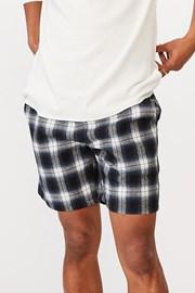 Pantalon scurt Lounge, albastru, model caroiat