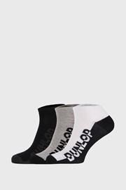 3 PACK sosete Dunlop, negru-gri