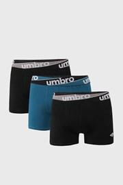 3 PACK boxeri Umbro, albastru-negru