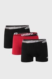 3 PACK de boxeri Umbro burgund