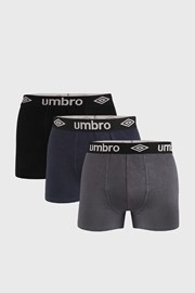 3 PACK boxeri Umbro Organic cotton