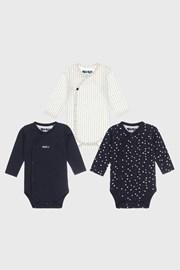 3 PACK body-uri fetițe Baby hearts