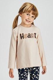 Set pentru fetițe Mayoral Heart colant și bluză