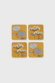 Set coastere Retro, din pluta, motive florale