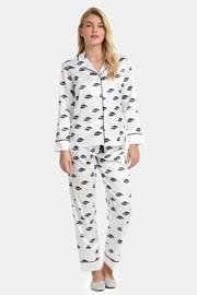 Pijama satinată Ojos