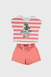 Set tricou și pantalon scurt fetițe Mayoral Summer Vibes