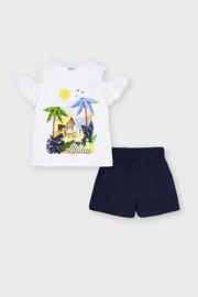 Set tricou și pantalon scurt fetițe Mayoral Aloha