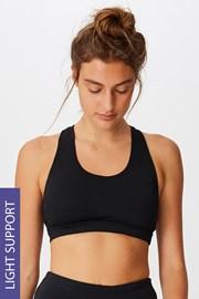 Sutien sport Workout Crop negru