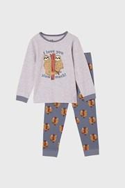 Pijama lungă băieți Lenochod