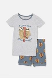 Pijama scurtă băieți Lenochord