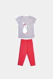 Pijamale pentru fetite Buny gri portocaliu