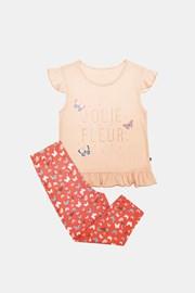 Pijama pentru fetite Lila portacaliu