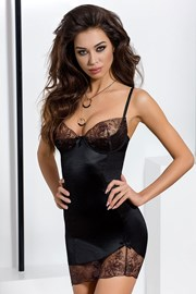 Set senzual Brida Black, neglijeu si chilot