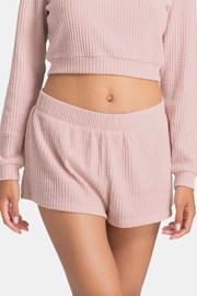 Pantalon scurt Waffle Pink