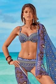 Costum de baie doua piese Elisea, albastru-violet