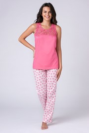 Pijama dama Jersey roz