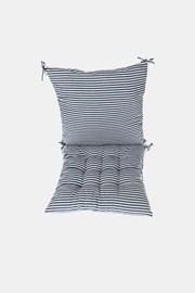 SET perne pentru scaun, albastru-alb