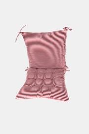Set perne pentru scaun, roșu-alb