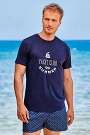 Tricou Yacht Club, albastru închis