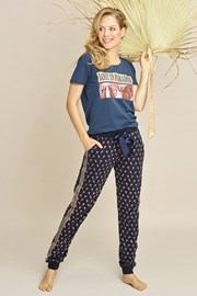 Pantalon de pijama damă Navy