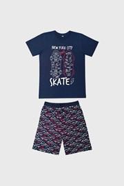 Pijama băieți Skate, albastru închis