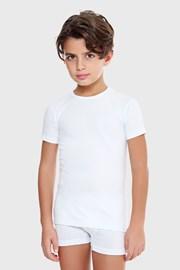 Tricou baieti E. Coveri basic, alb