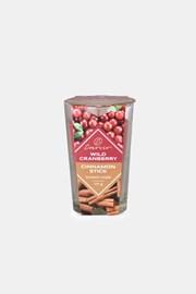 Lumânare parfumată Wild Cranberry și Cinnamon Stick două culori