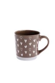 Cana ceramica Inima 450 ml, maro
