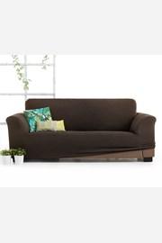 Husă Milos pentru canapea cu trei locuri, maro