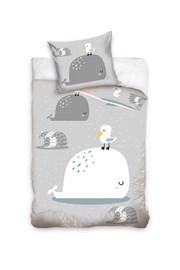 Lenjerie de pat pentru copii Balena